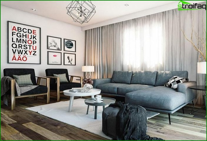 Living room in a modern style 1