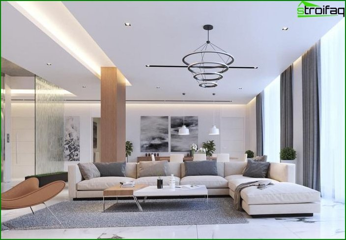 Living room in modern style 2