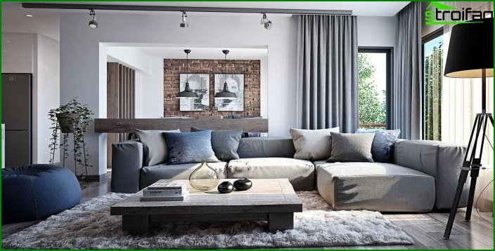 Living room in modern style 3