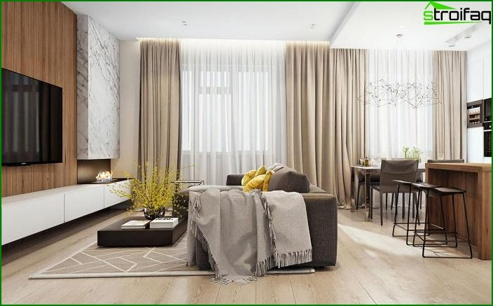 Living room in modern style 7