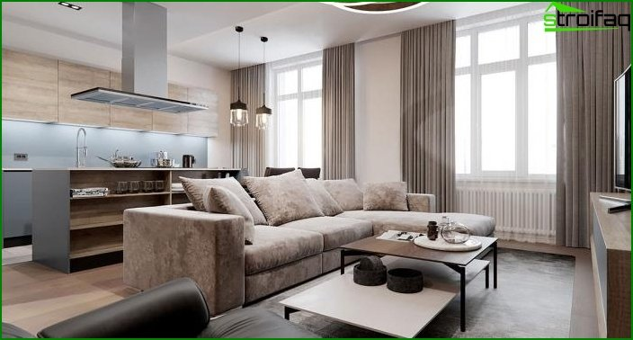 Living room in a modern style 9