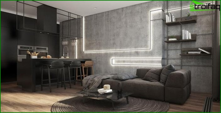 Living room in a modern style 10