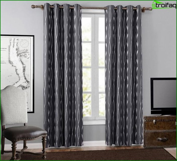 Curtains with geometric print 3