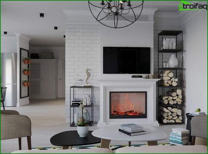 Fireplace in living room 6