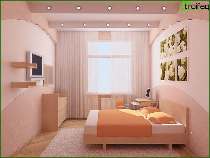 Kis hálószoba design: Top 50 fotó ötleteket belső hálószoba