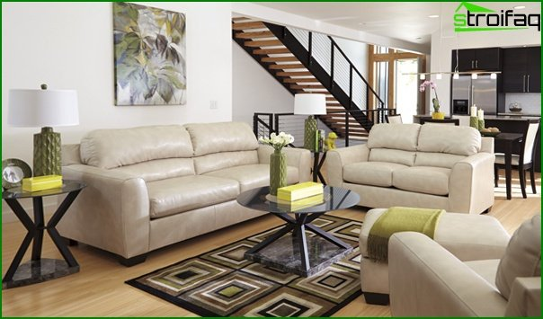 Living room in a modern style (furniture) - 1