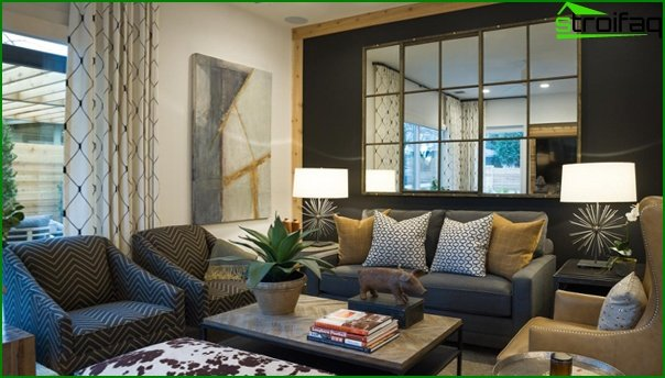 Living room in modern style (furniture) - 2