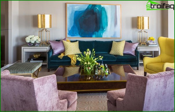 Living room in modern style (furniture) - 4