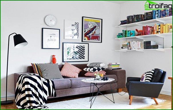 Living room in a modern style (furniture) - 5