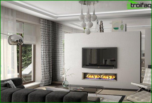 Living room furniture in modern style (minimalism) - 1