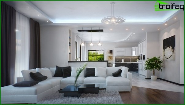Living room furniture in a modern style (minimalism) - 3