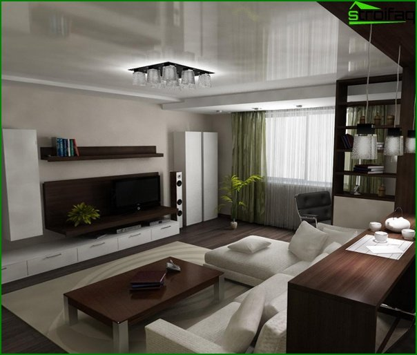 Living room furniture in a modern style (minimalism) - 5