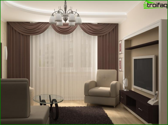 One room apartment design 4