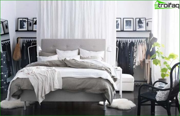 Photo bedroom design small size