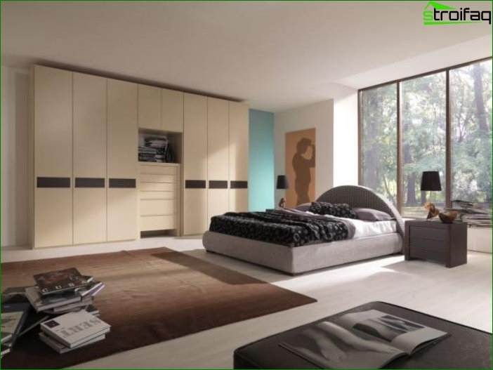 The bedroom in the style of minimalism 1