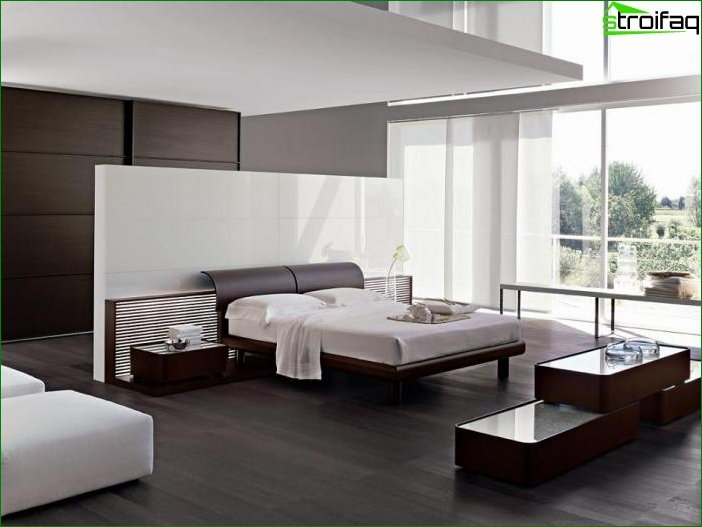 The bedroom in the style of minimalism 4