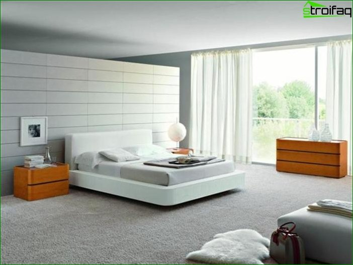 Bedroom in a minimalist style 5