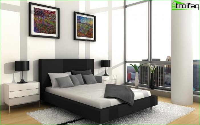 Bedroom in a minimalist style 6