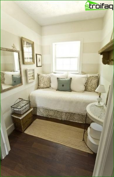 The design of the small bedroom