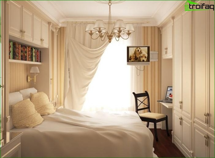 Design a bedroom in the Khrushchev - photo 3