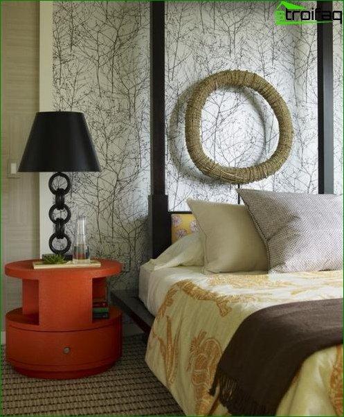 Photo wallpaper in the bedroom