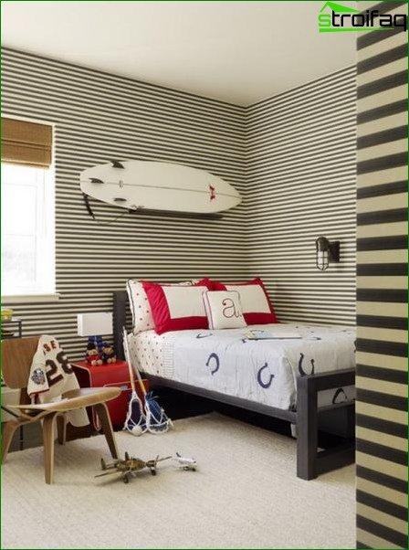 Photo wallpaper in the bedroom boy