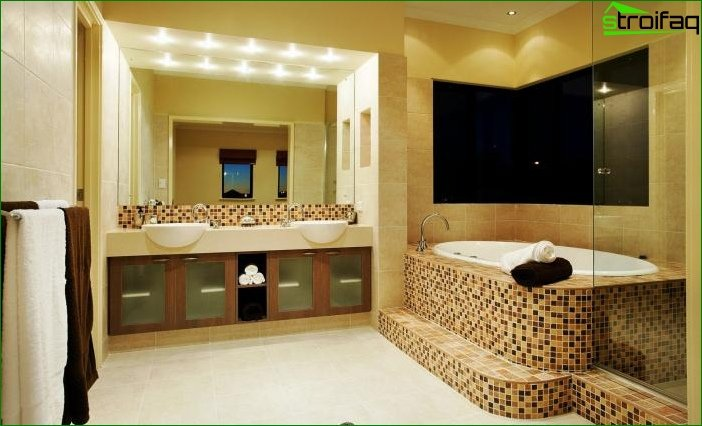 Photo of modern bathroom interior