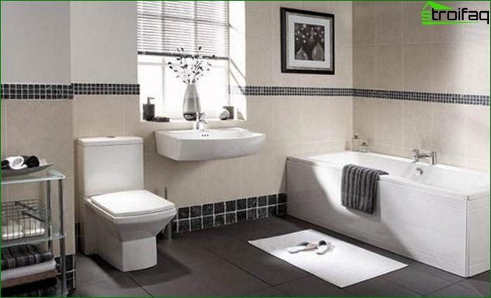 The design of the modern bathroom