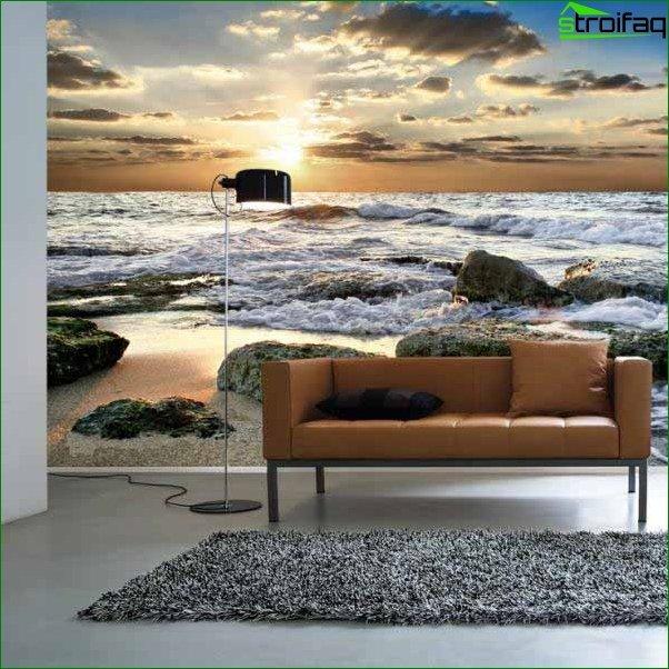 Wallpaper for the living room 4