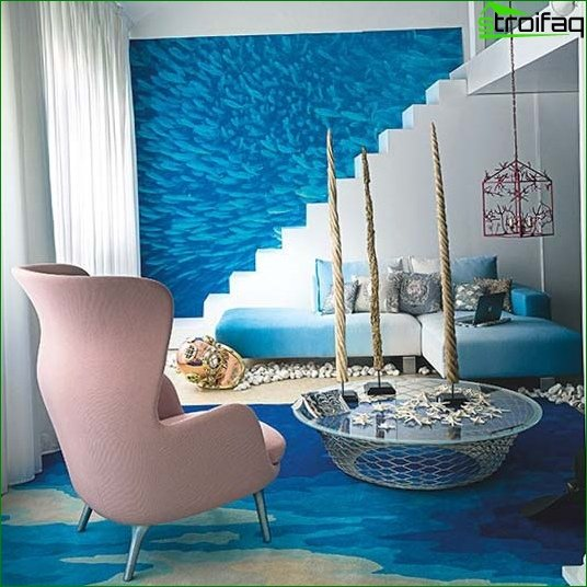 Modern wallpaper for the living room - Photo