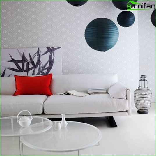 Modern wallpaper for the living room