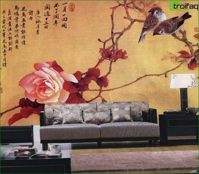 Wallpaper in oriental style