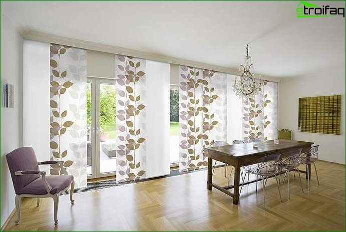 Curtains in oriental style