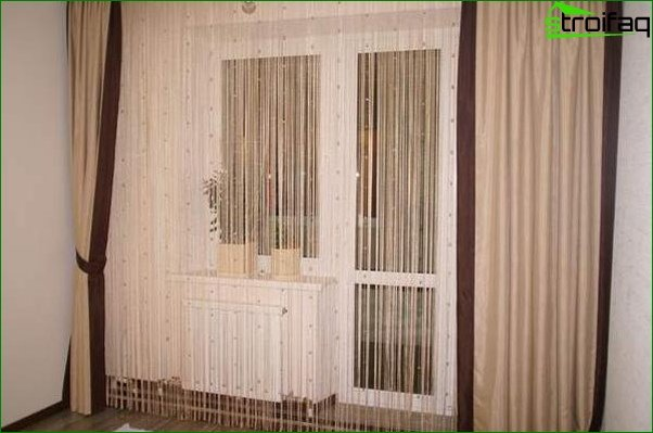 Photo of fashionable curtains