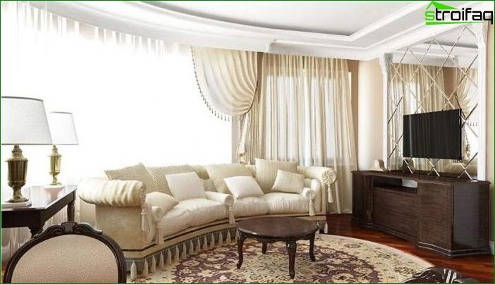 Photo of fashionable curtains for the living room
