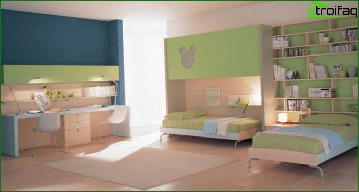 Design of a room for children of different sexes