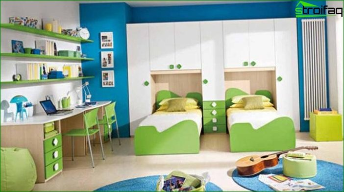 A room for two children of different ages 6