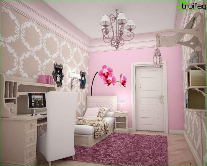 Picture of a children's room for a girl