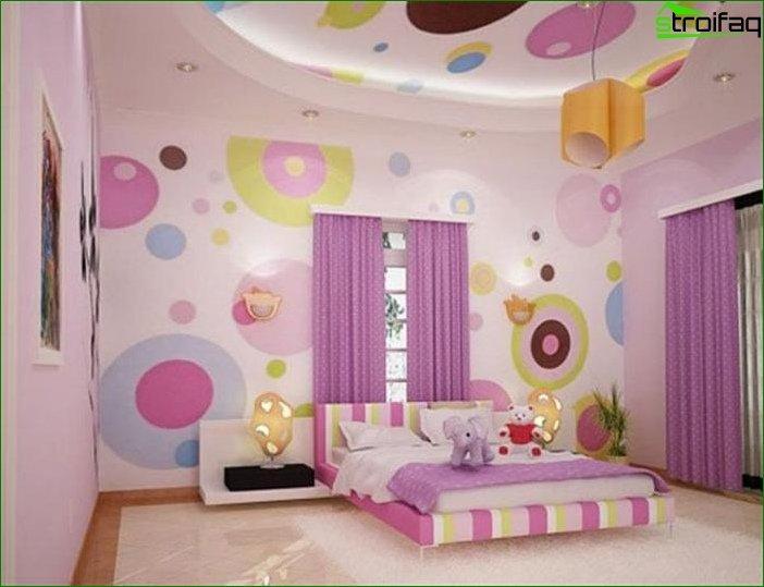 Фото дизайну дитячої кімнати для дівчинки
