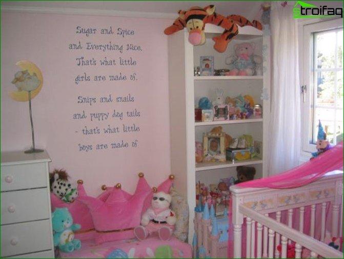 Кімната для дівчинки 2-3 років 8