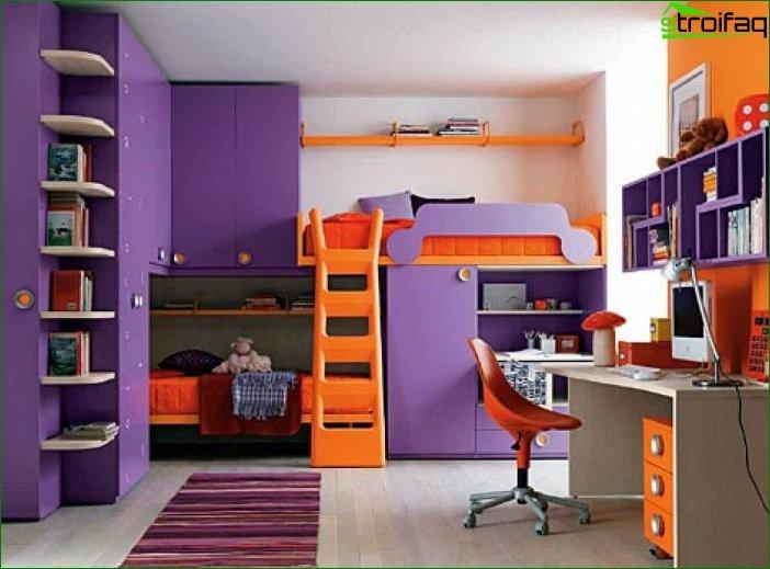 Кімната для дівчинки 6-7 років 7