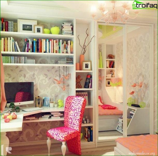 Кімната для дівчинки 10-12 років 3