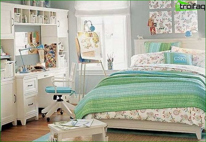 Interior of the room for a teenage girl 9