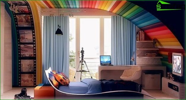 Children's room in high-tech style