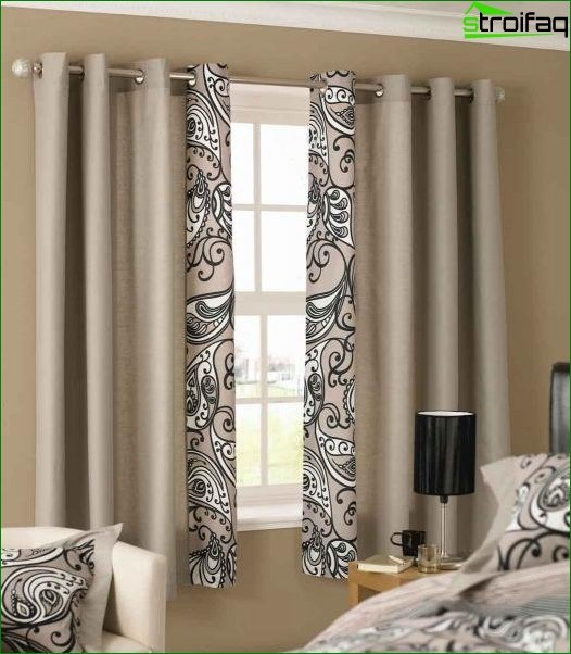 Photo of curtains for bedroom in Art Deco style