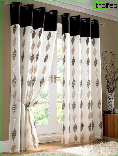 Photo of curtains in the bedroom