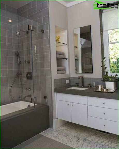 Design of small bathroom furniture