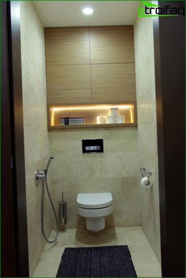 Design of the toilet and bathroom - photo 2