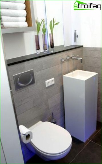 Toilet design 1.5 square meters. M 2