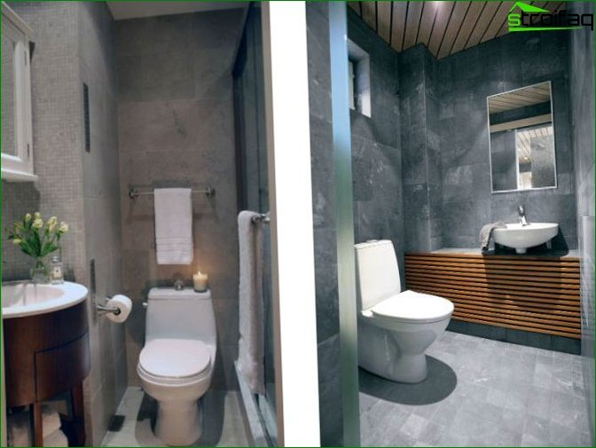 Toilet design 2 sq. M. M - 2